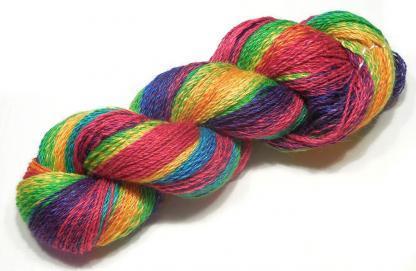 Handspun yarn - Reflected rainbow2 - DSCN3378-1-c