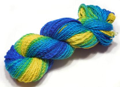 Handspun yarn - Lemon to deep blue3 - DSCN3393-1-c