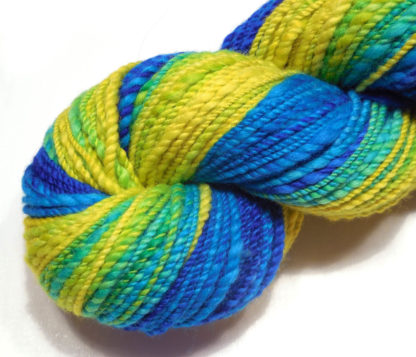 Handspun yarn - Lemon to deep blue2 - DSCN3413-1-c
