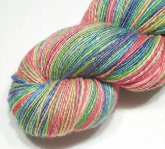 Handspun yarn - Faded rainbow - DSCN3797-1-c