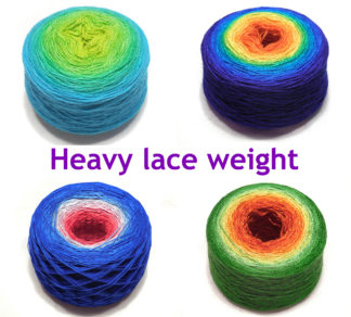 Heavy lace/light fingering weight